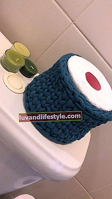 Horgolt WC-papír tartó: Tanulja meg a készítést, +80 inspiráció